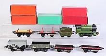 Hornby Locomotive & 5 Freight Cars.