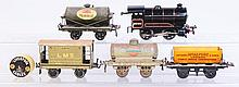 Hornby Locomotive & 4 Freight Cars.