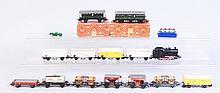 Lot of 15: Marklin HO Rolling Stock& Locomotives.