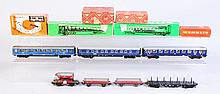 Marklin Assorted Pieces Rolling Stock & Boxes.