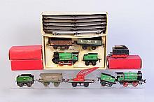 Assortment of Hornby O Gauge Trains.