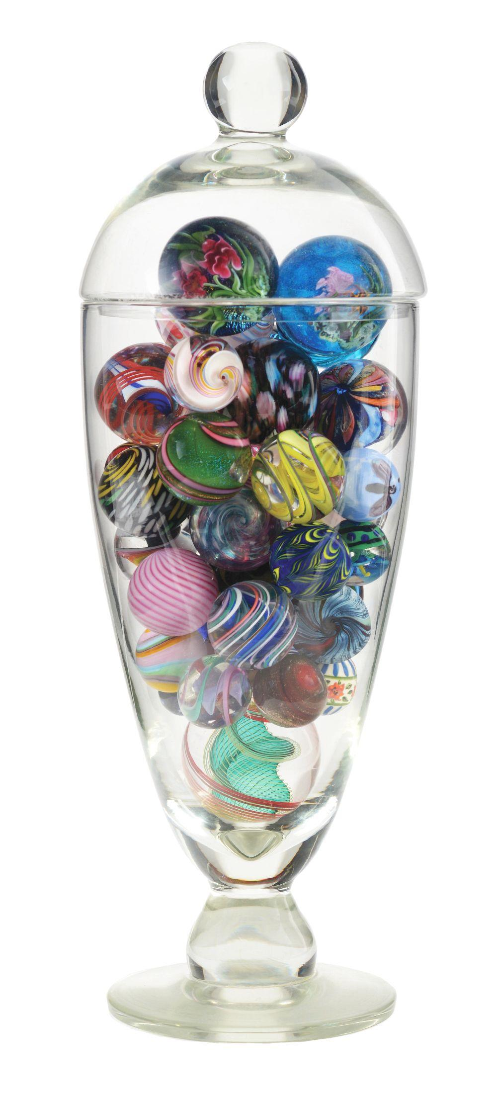 Medium Sized Jar of Contemporary Marbles.