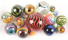 Lot 2008: Bowl of Contemporary Marbles.