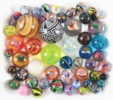 Lot 2013: Medium Sized Jar of Contemporary Marbles.