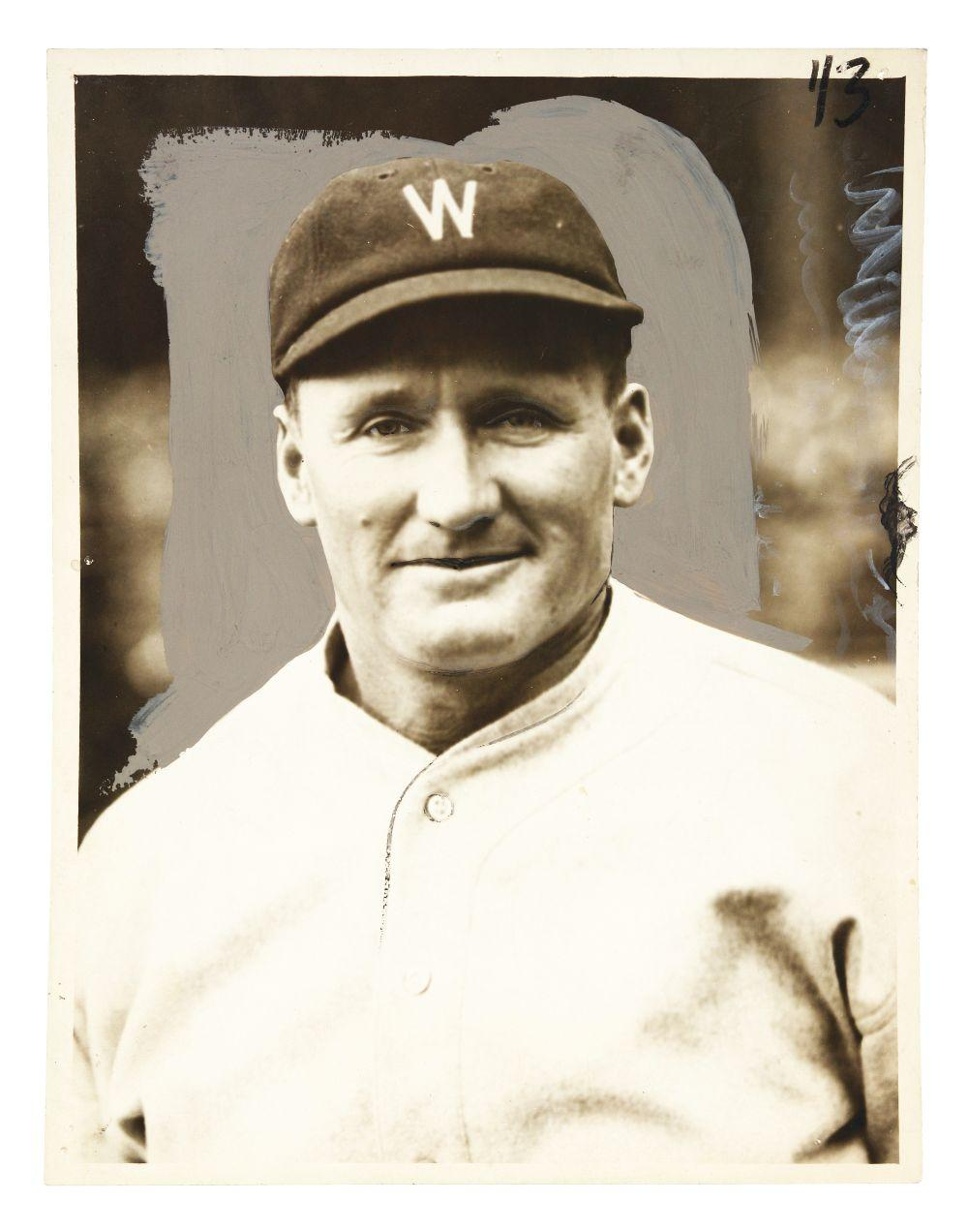 First Generation Walter Johnson Baseball Photograph.