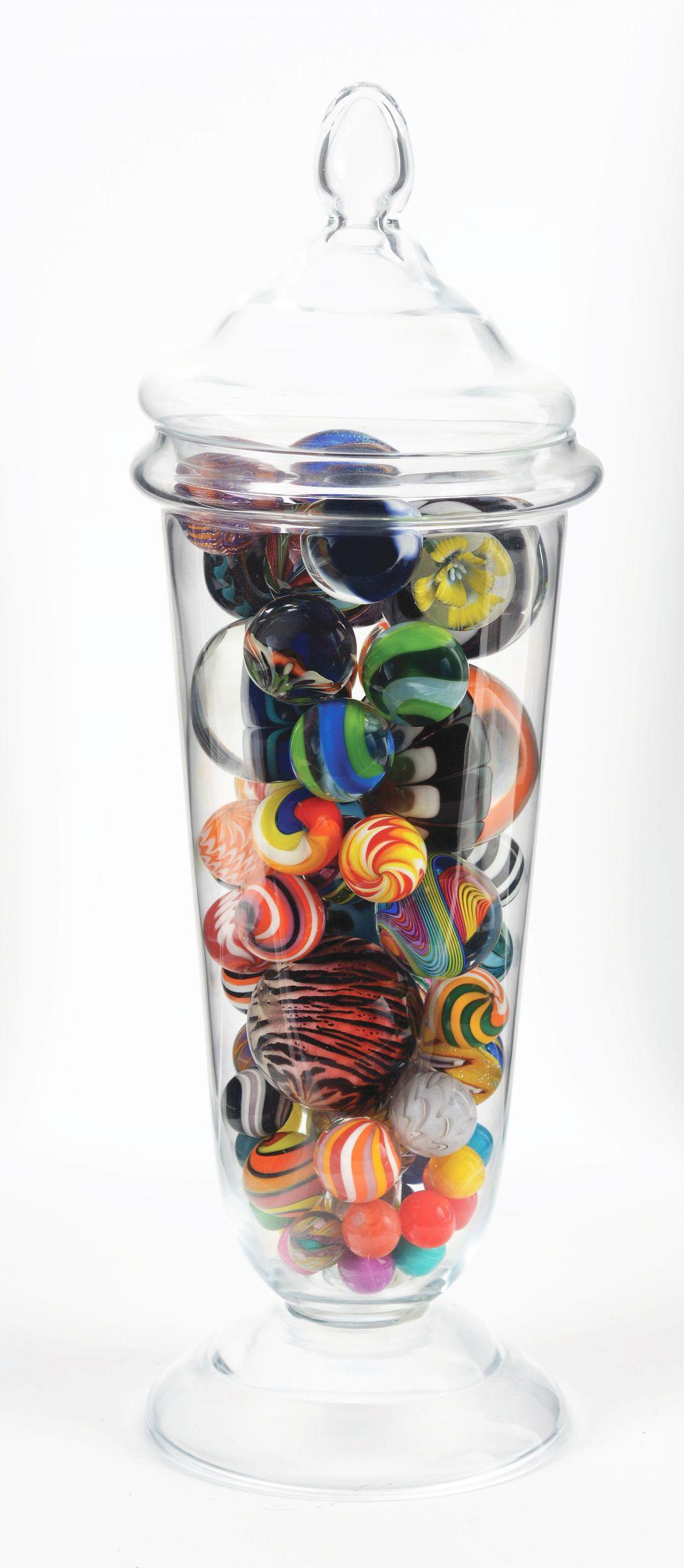 Lot 2016: Large Jar of Contemporary Marbles.