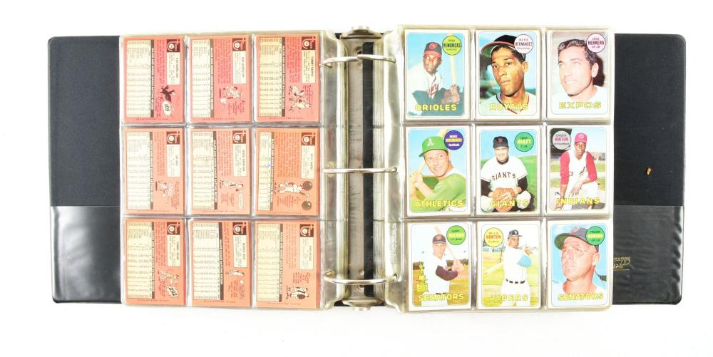 Lot 2019: Nearly Complete Topps 1969 Baseball Card Set.