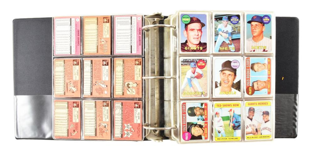 Nearly Complete Topps 1969 Baseball Card Set.