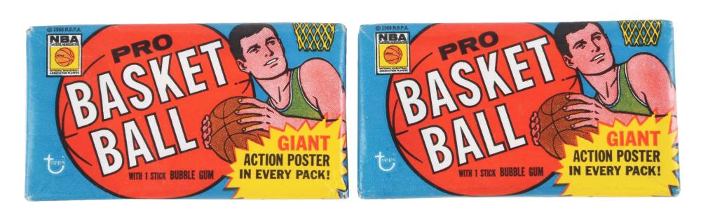 Lot of 2: 1970-71 Topps Basketball 1st Series Wax Packs.