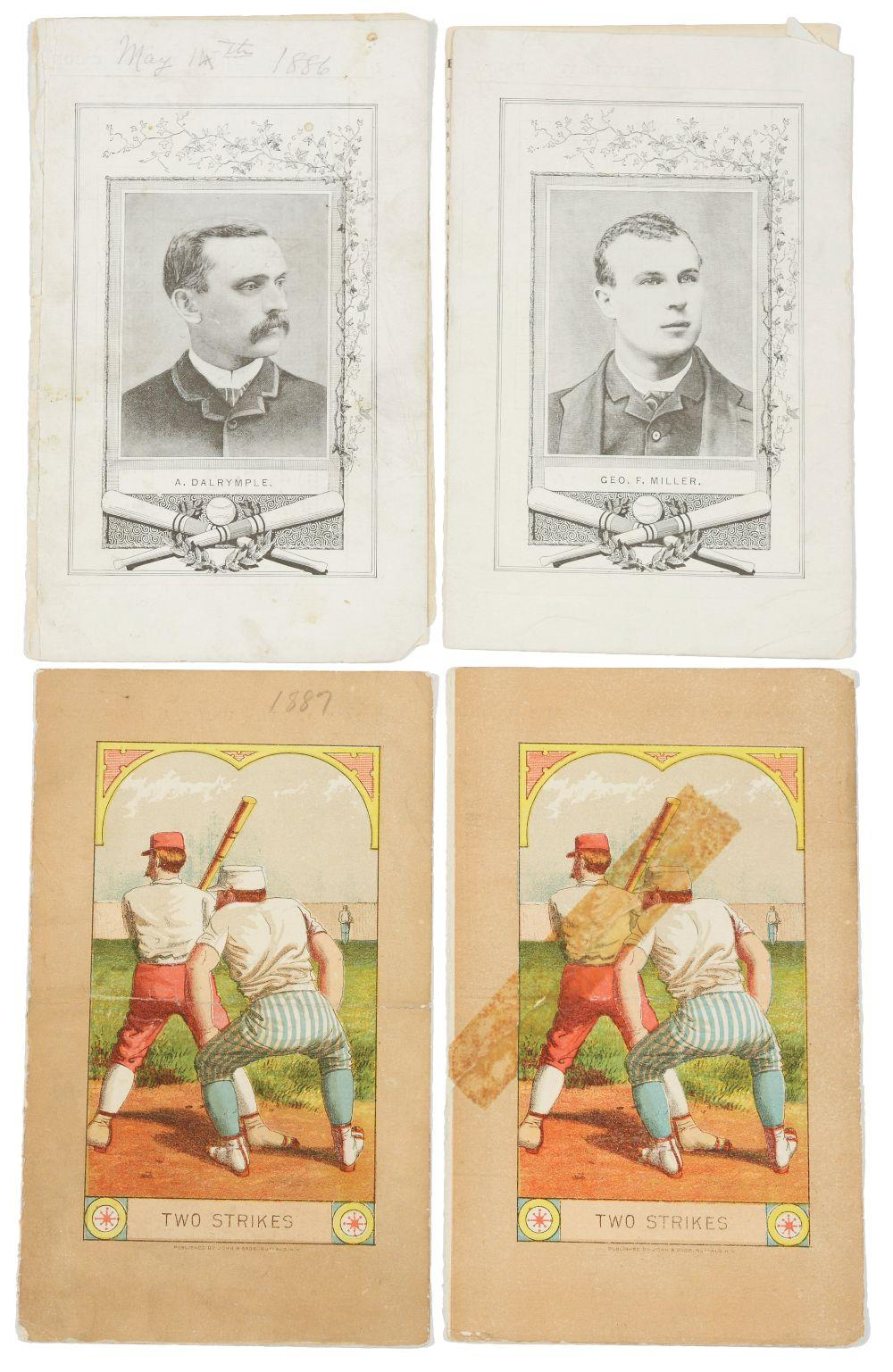 Lot of 5: 1880s Allegheny Baseball Club Scorecards.