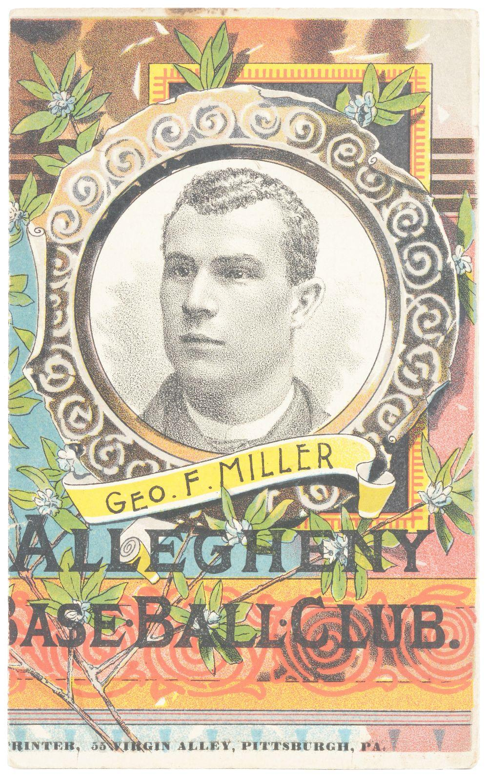 Very Early Allegheny Baseball Club Scorecard.