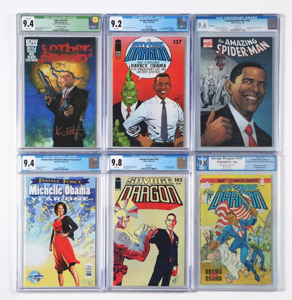 Lot of 18: Graded Contemporary Comic Books.