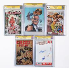 Lot 2035: Lot of 9: Vintage & Contemporary Graded Comic Books.