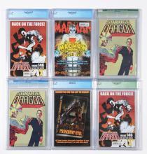 Lot 2033: Lot of 18: Graded Contemporary Comic Books.