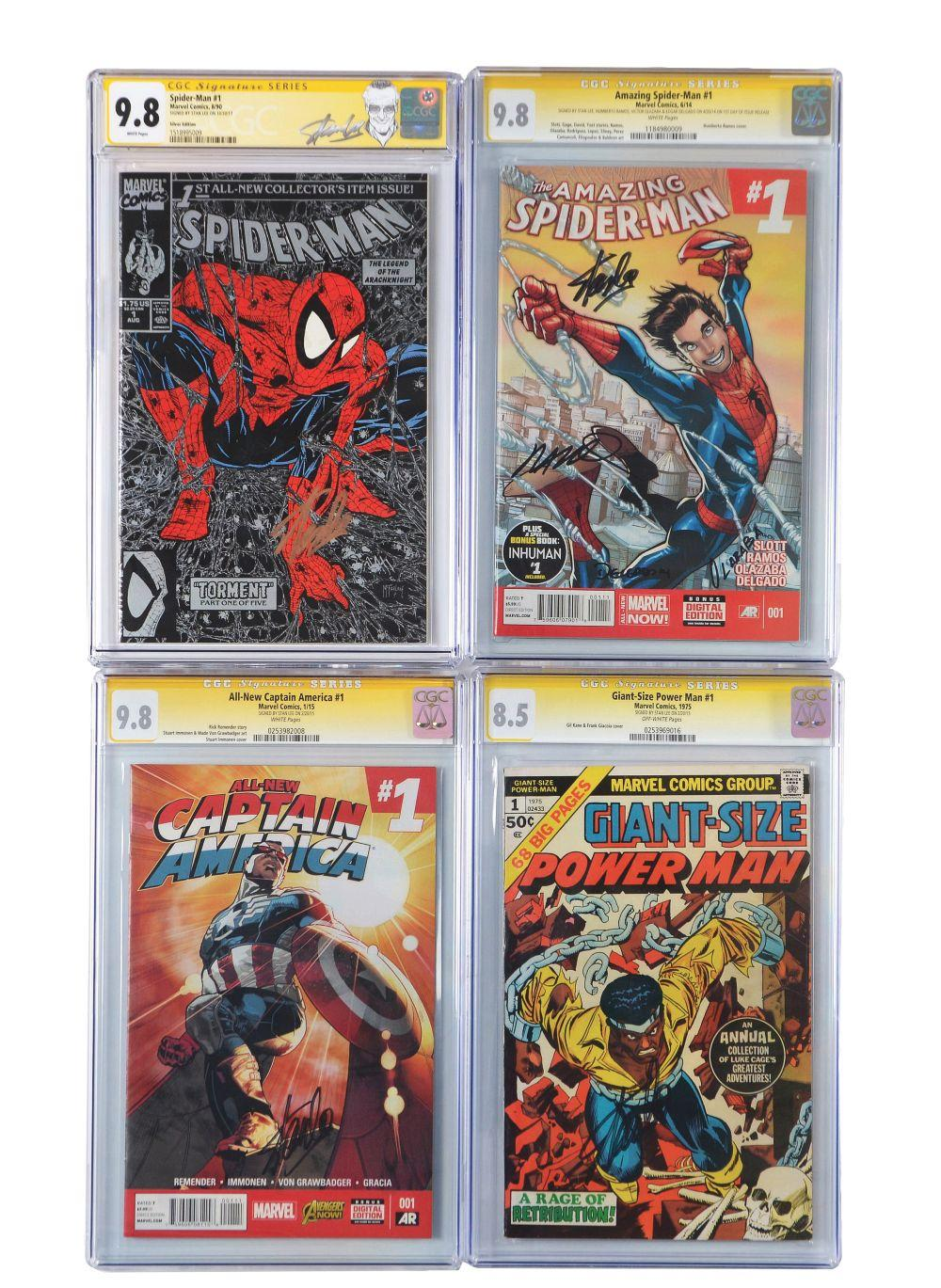 Lot of 9: Graded Contemporary Comic Books.