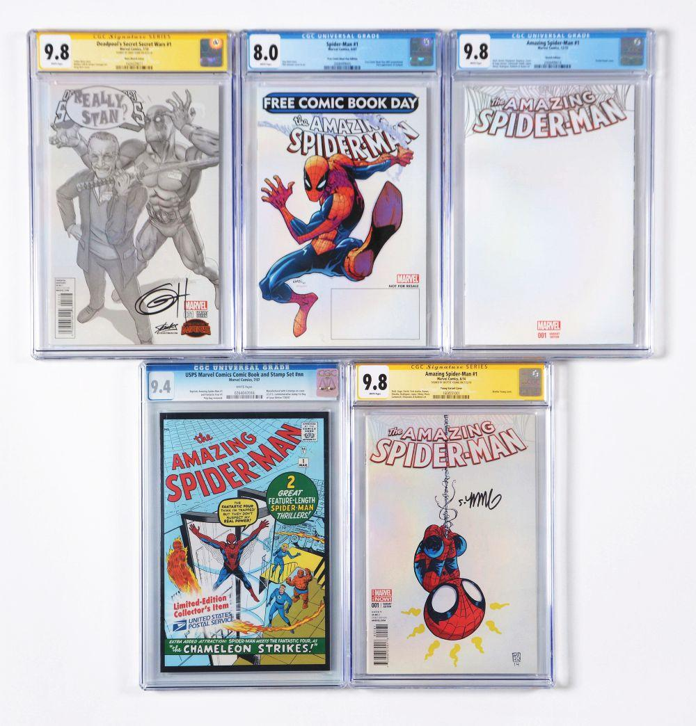 Lot 2037: Lot of 10: Graded Contemporary Comic Books.