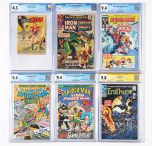 Lot 2038: Lot of 14: Graded Mostly Contemporary Comic Books.