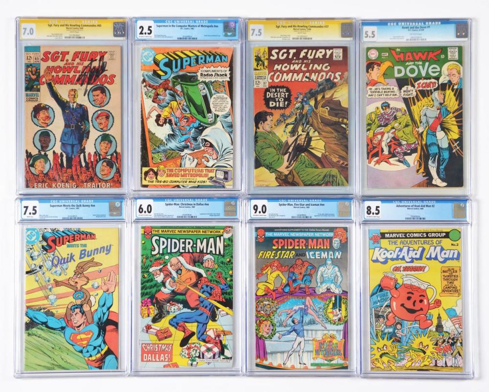 Lot of 14: Graded Mostly Contemporary Comic Books.