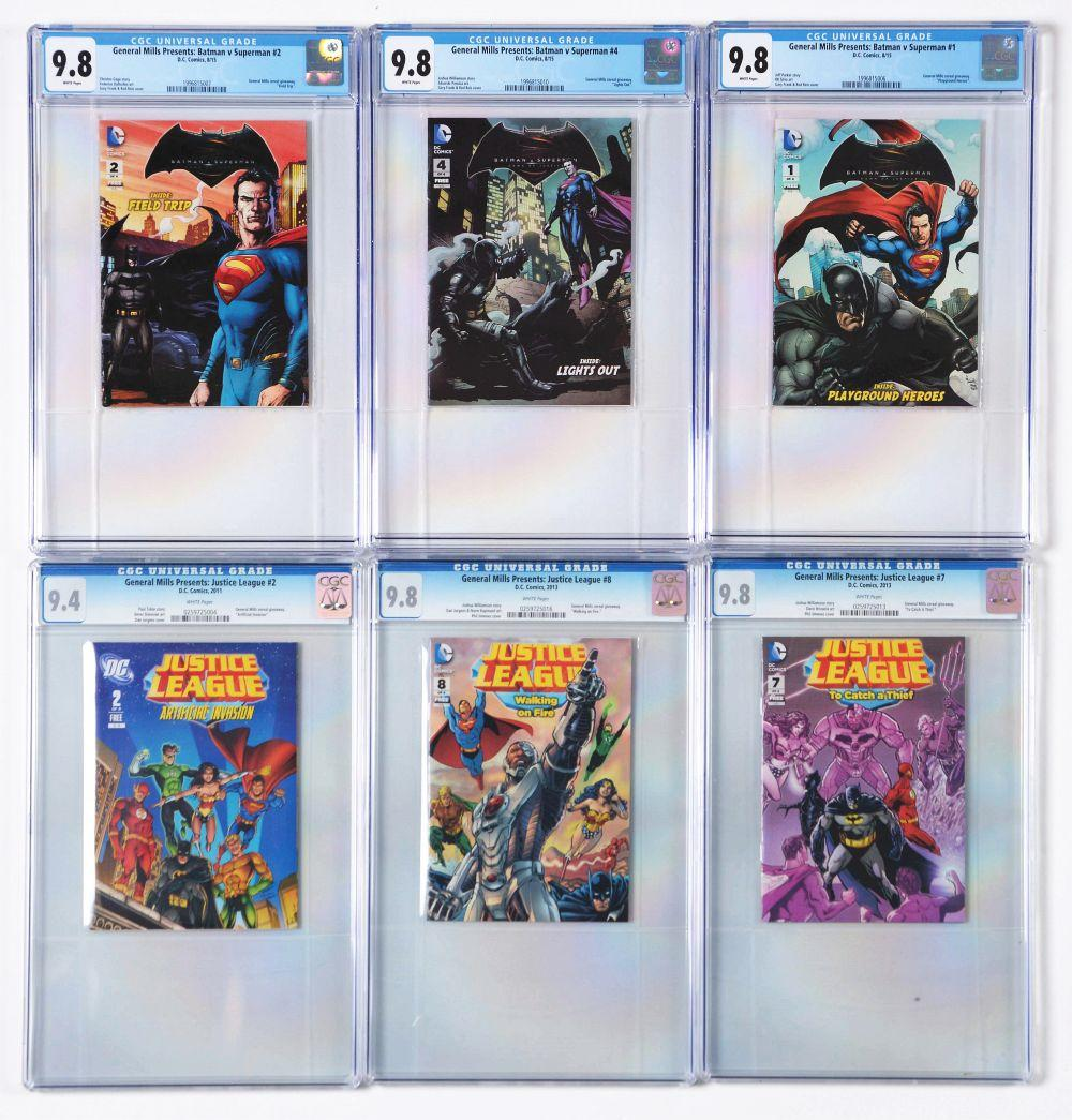 Lot 2040: Lot of 15: Graded Contemporary Comic Books.