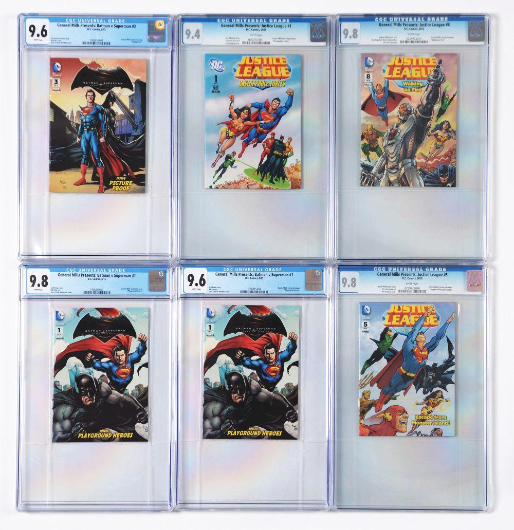 Lot of 15: Graded Contemporary Comic Books.