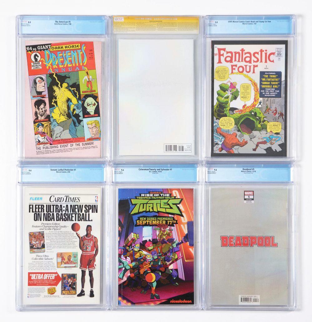 Lot 2039: Lot of 16: Graded Contemporary Comic Books.