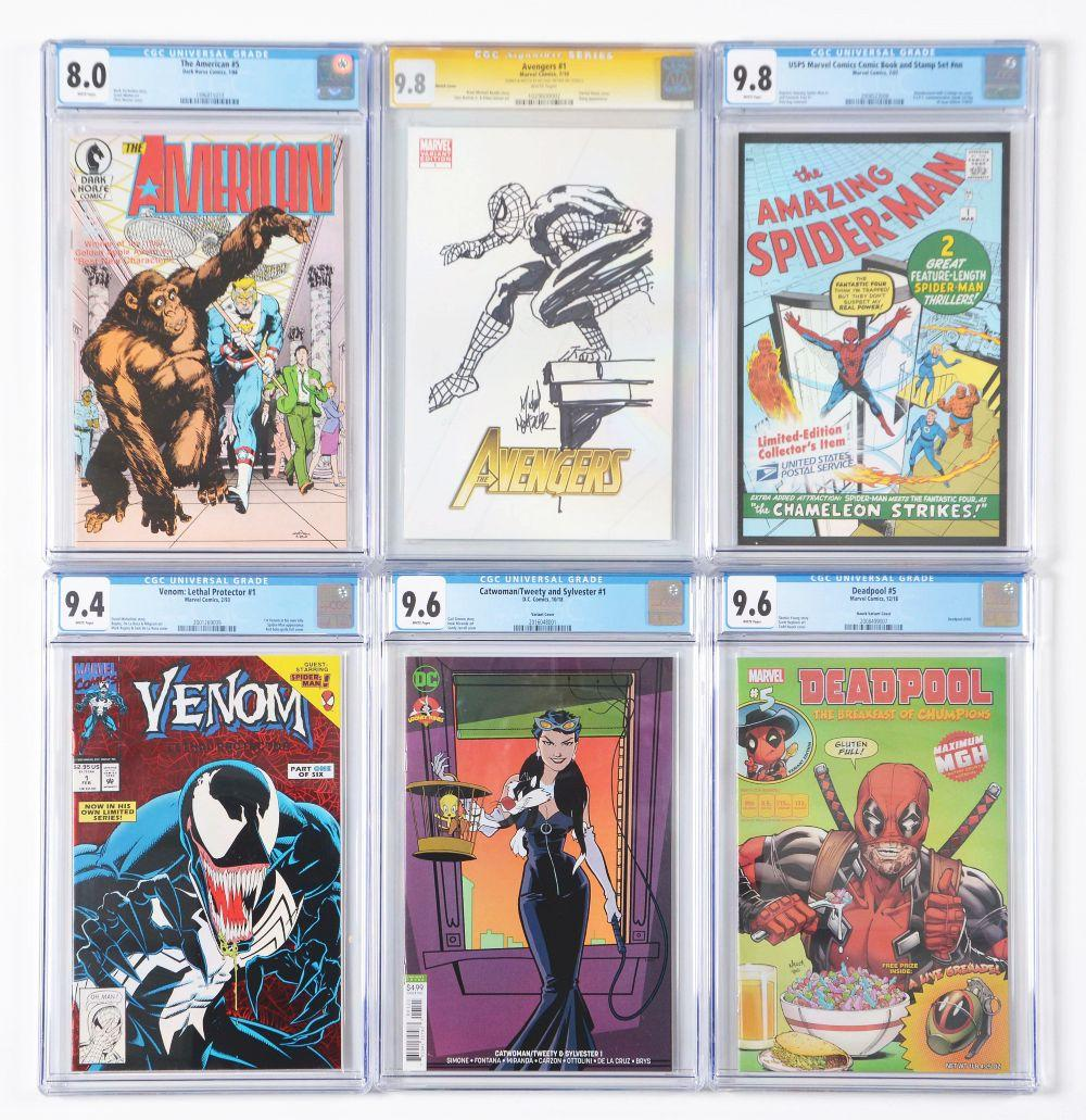 Lot of 16: Graded Contemporary Comic Books.
