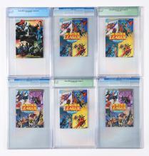 Lot 2040: Lot of 15: Graded Contemporary Comic Books.