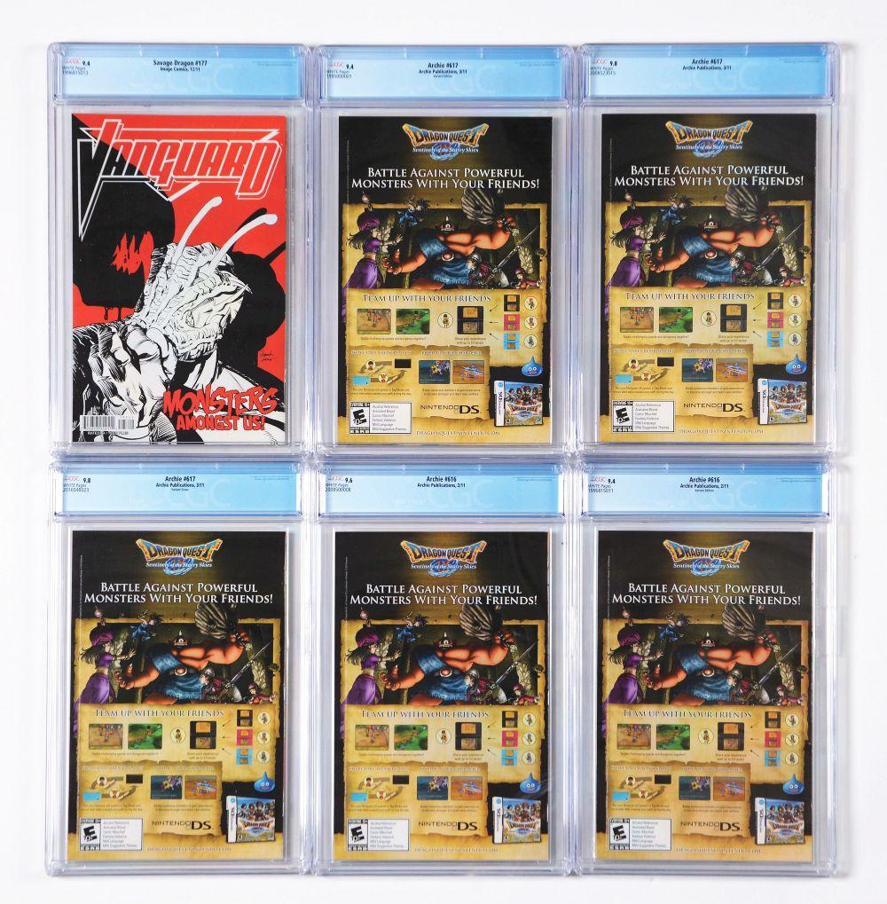 Lot 2044: Lot of 26: Graded Contemporary Comic Books.