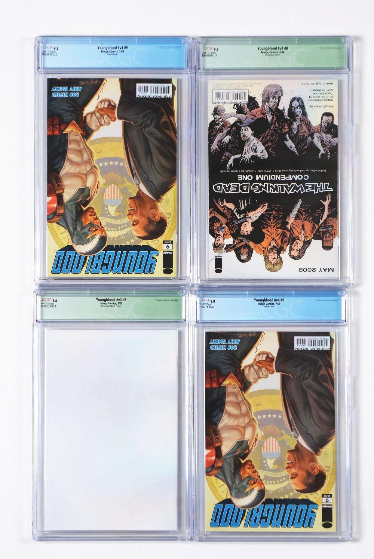 Lot 2042: Lot of 16: Graded Contemporary Comic Books.