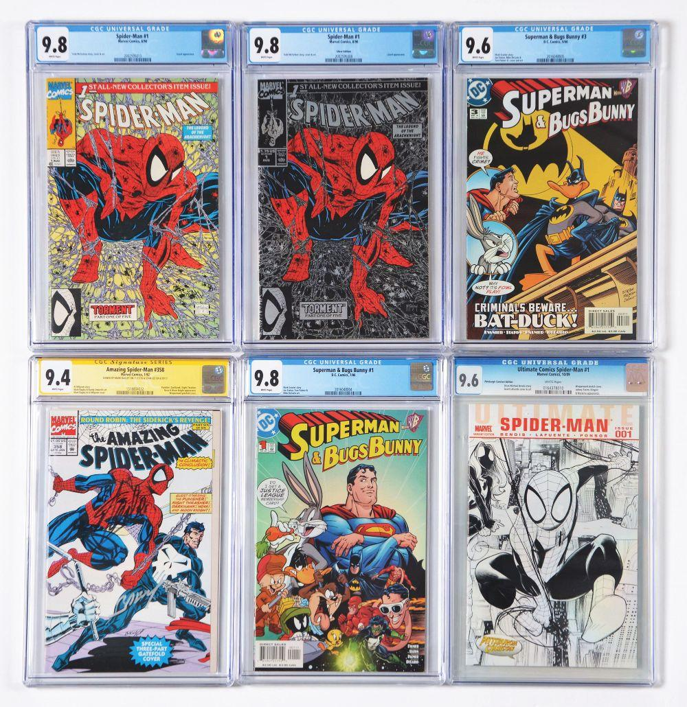 Lot of 25: Graded Contemporary Comic Books.