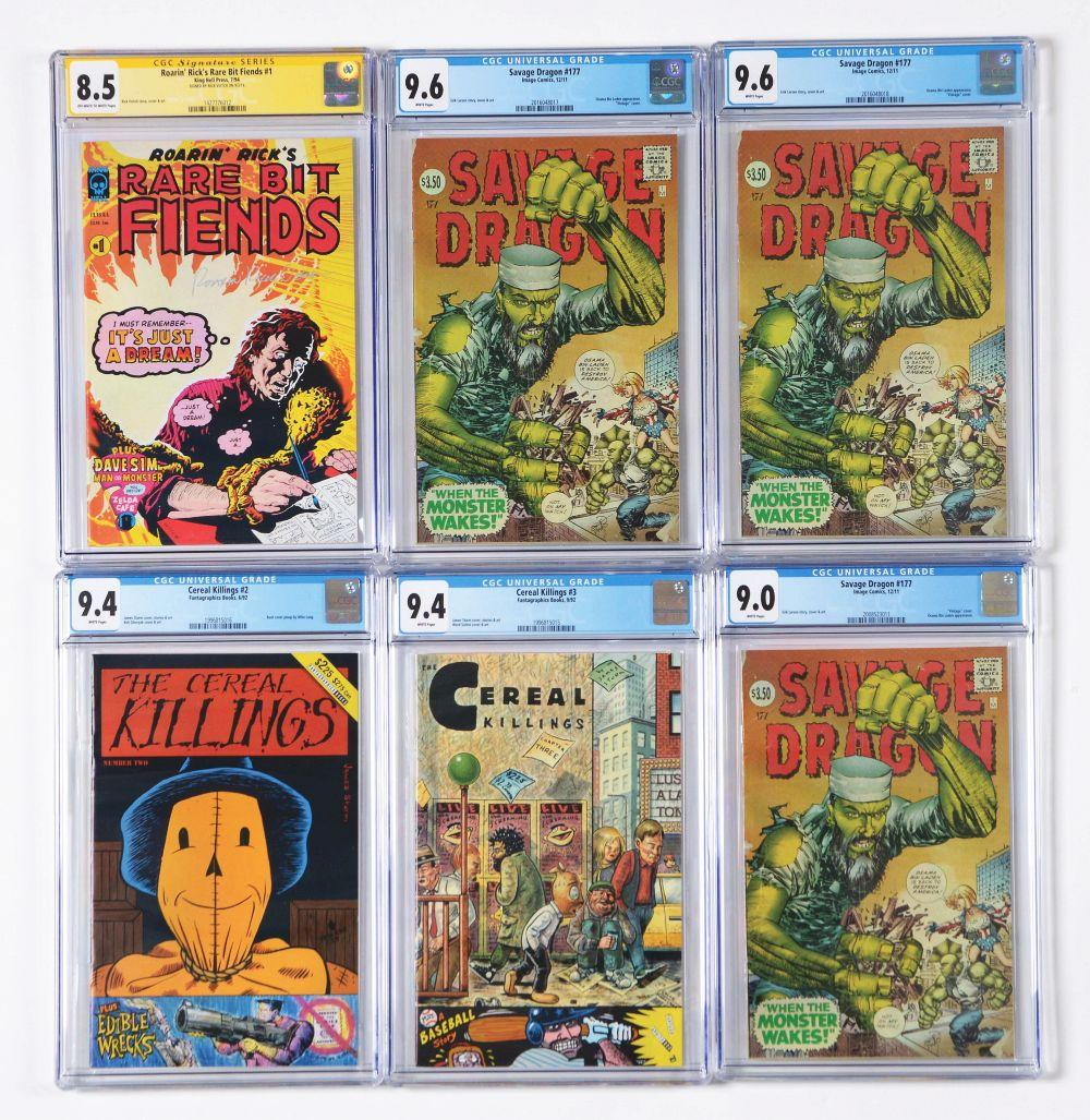 Lot of 21: Graded Contemporary Comic Books.