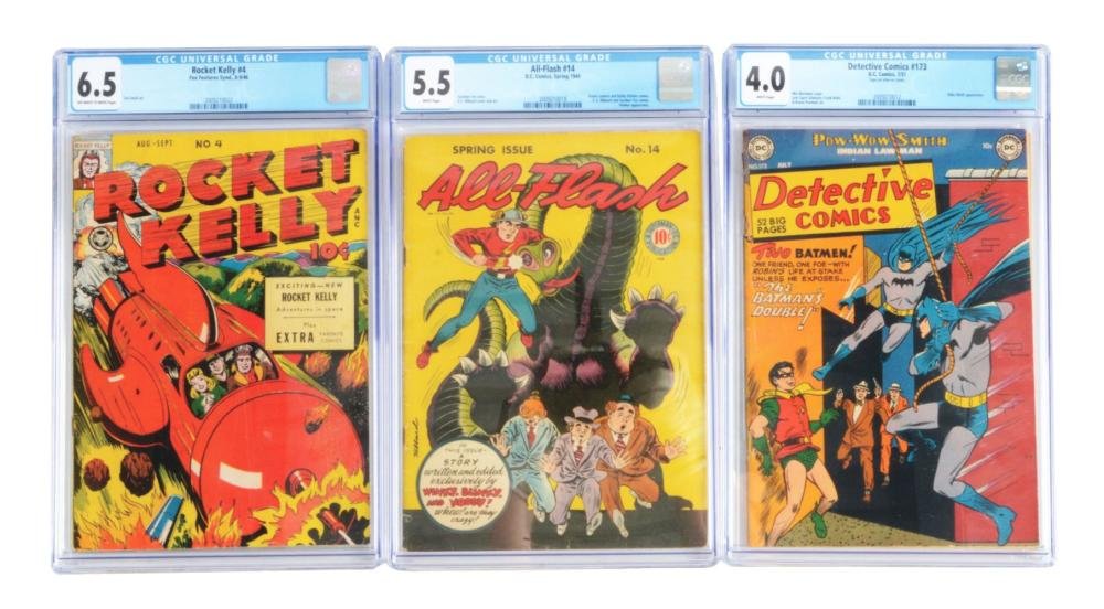Lot of 3: 1940s & 50s Graded Comic Books.