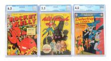 Lot 2047: Lot of 3: 1940s & 50s Graded Comic Books.
