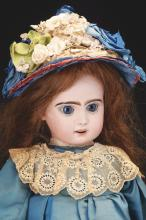 Lot 2062: Attractive Open Mouth French Bisque Doll.