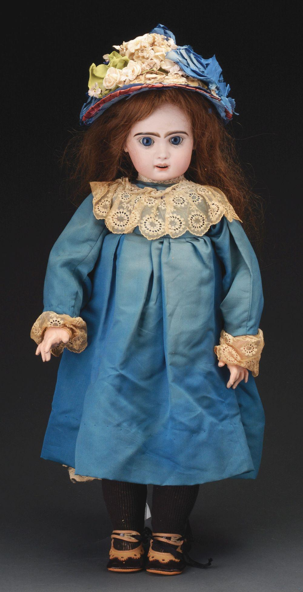 Attractive Open Mouth French Bisque Doll.
