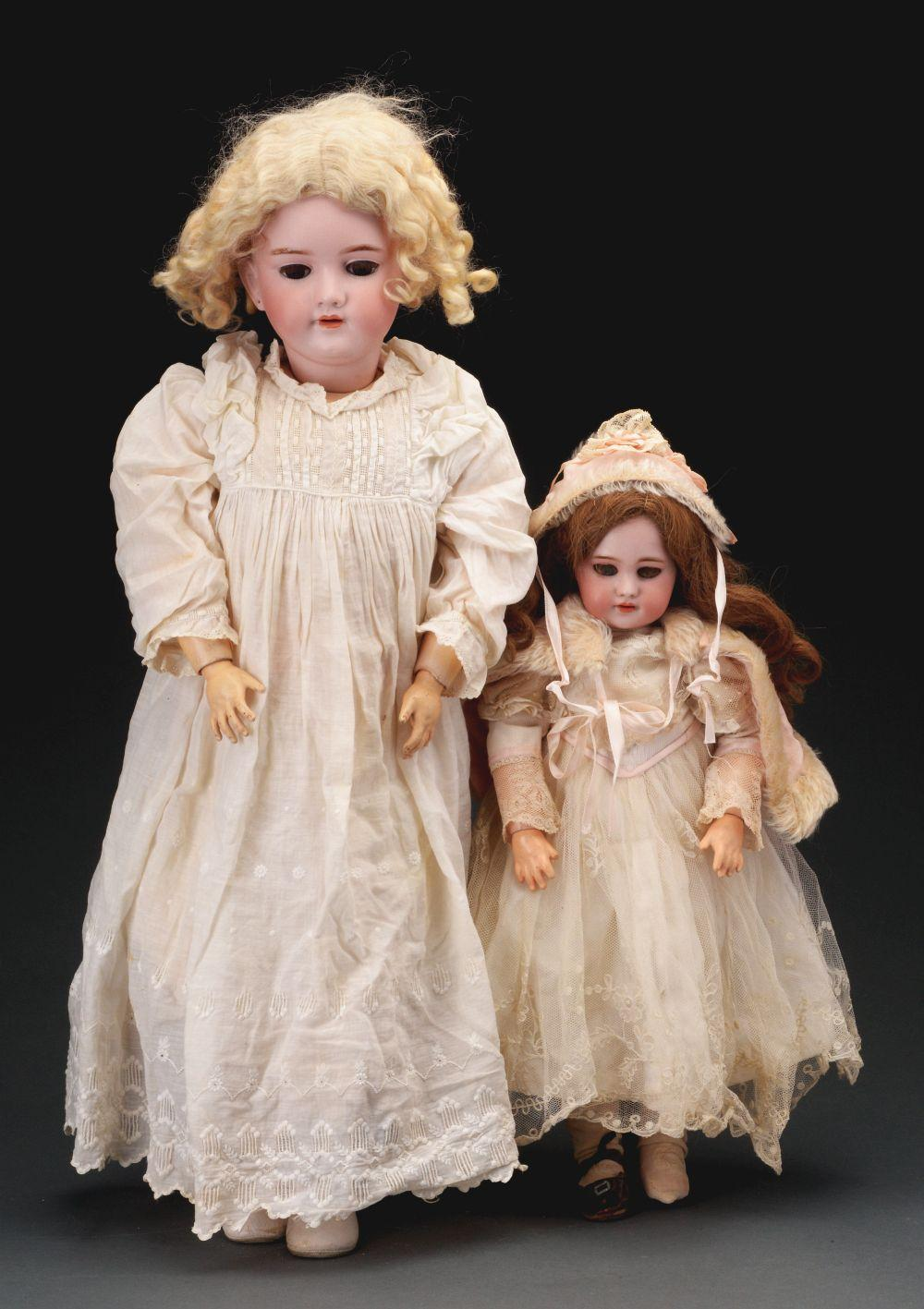 Lot of 2: Bisque Head Early 20th Century Dolls.