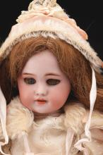 Lot 2068: Lot of 2: Bisque Head Early 20th Century Dolls.