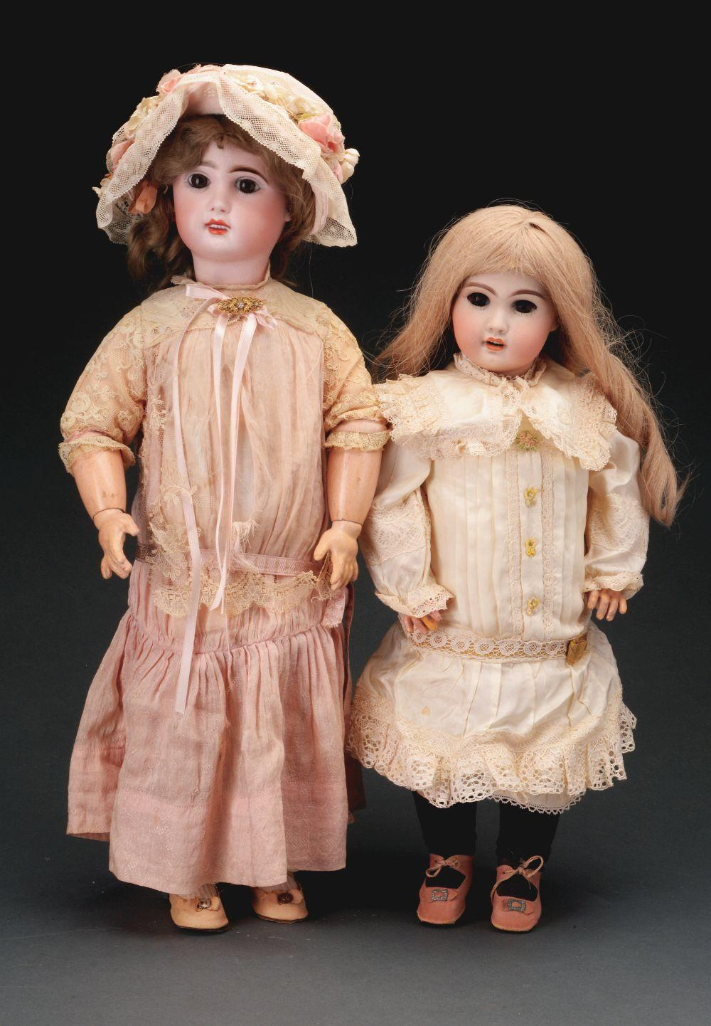 Lot of 2: Later Jumeau-Type Dolls.