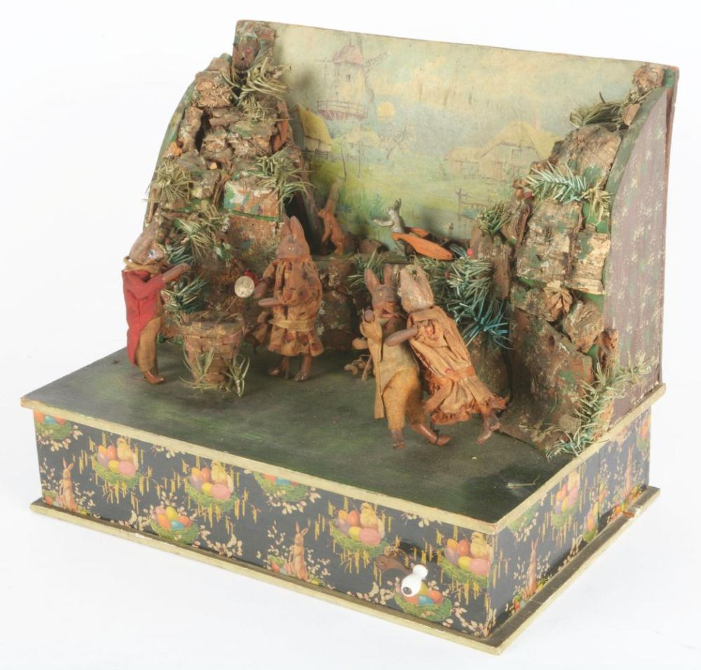 Lot 2066: Rabbit Automaton Music Box.