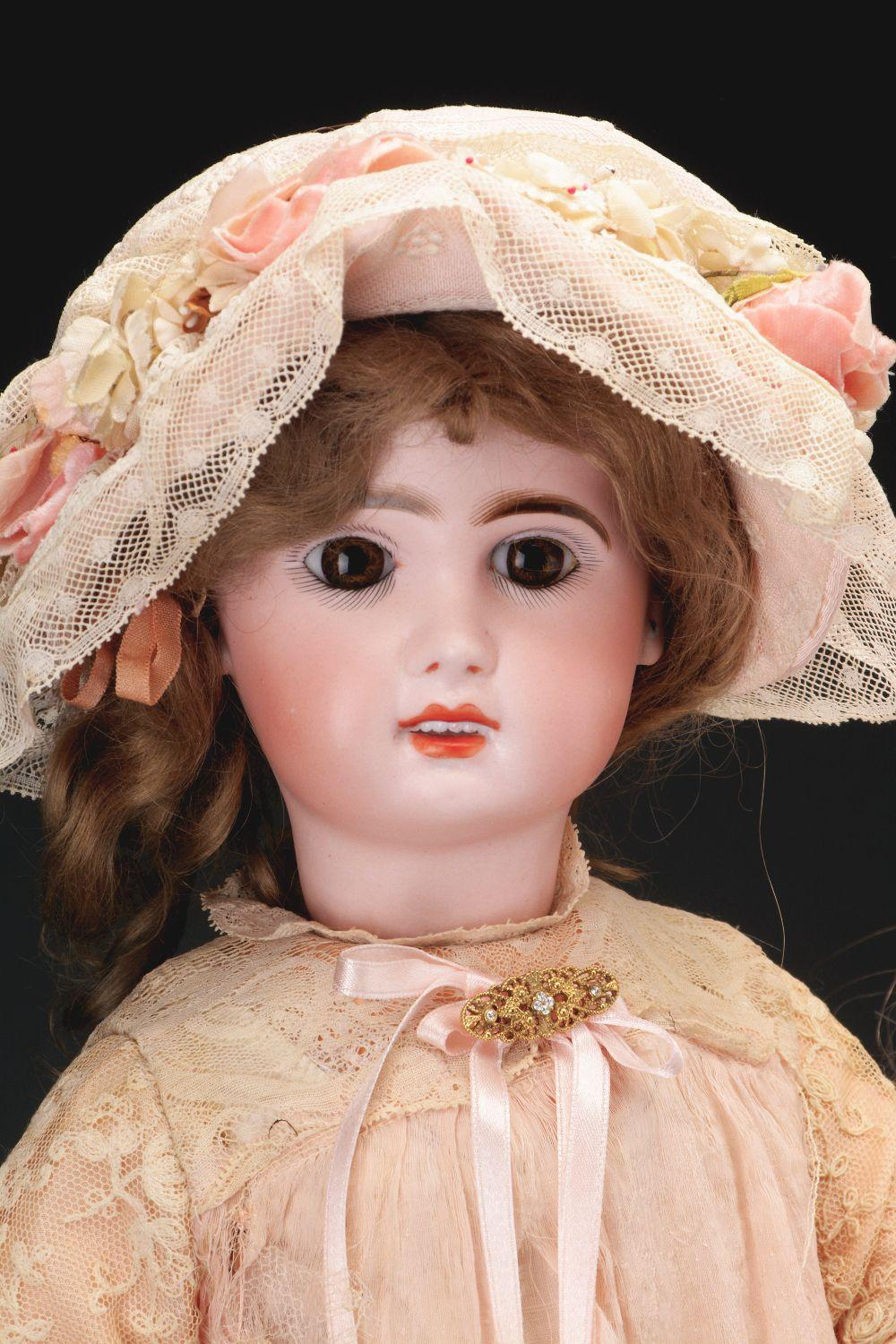 Lot 2069: Lot of 2: Later Jumeau-Type Dolls.