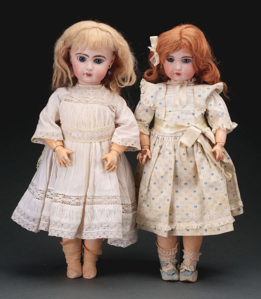 Lot of 2: Open Mouth French Dolls.