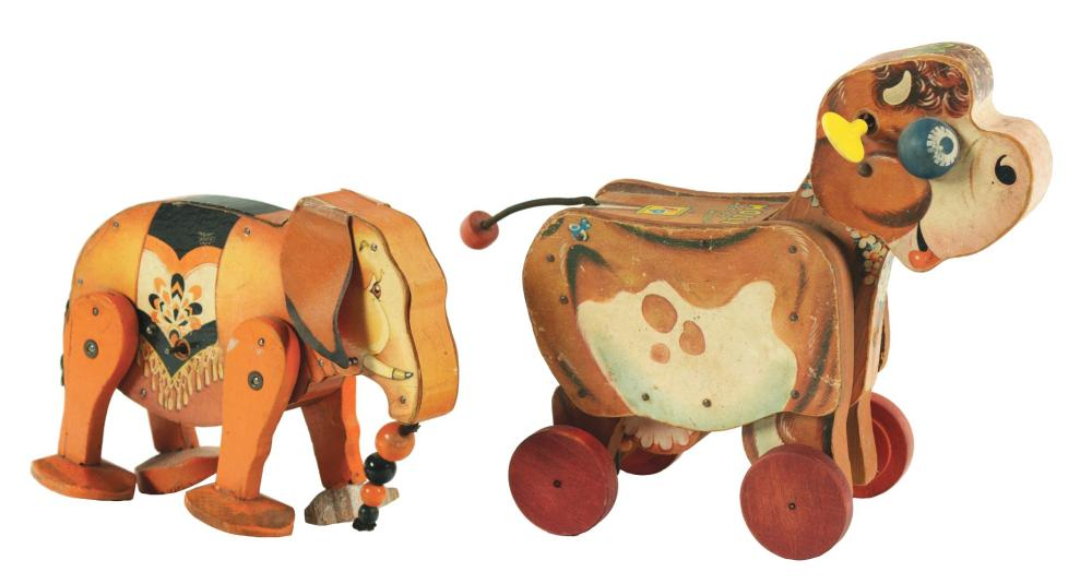 Lot 2083: Lot of 2: Fischer Price Animal Toys.