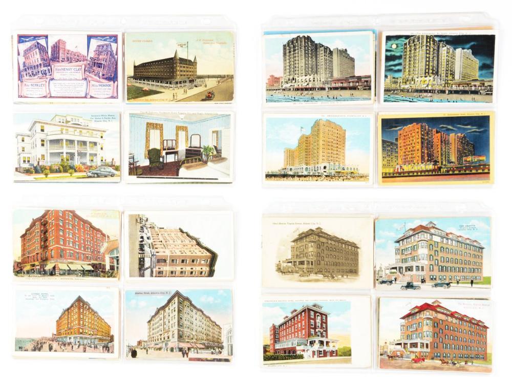 Lot 2086: Lot of 2: Books of Vintage Postcards.