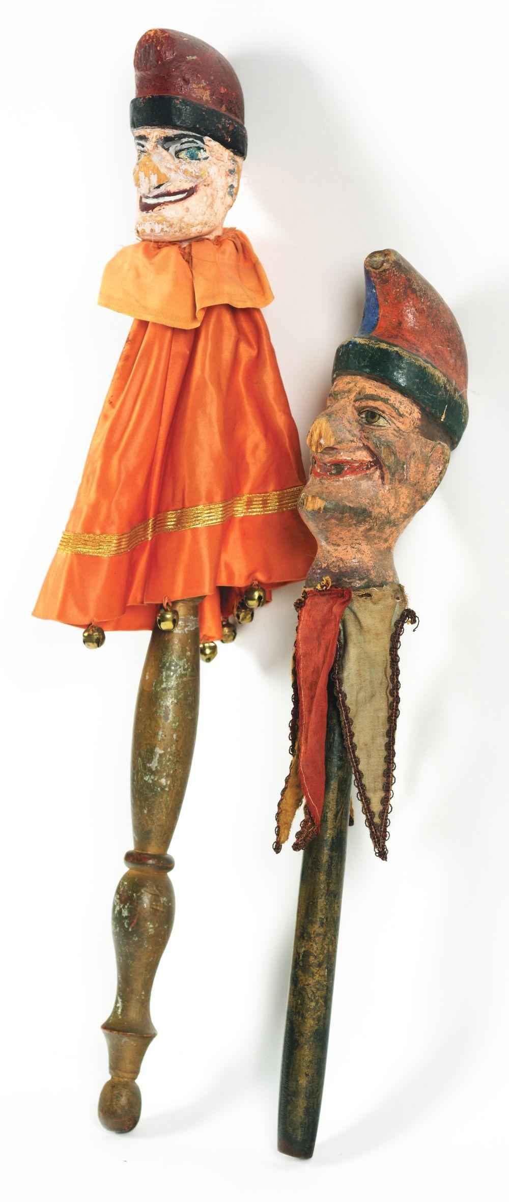 Lot 2090: Lot of 2: Punch Wooden Marionettes.