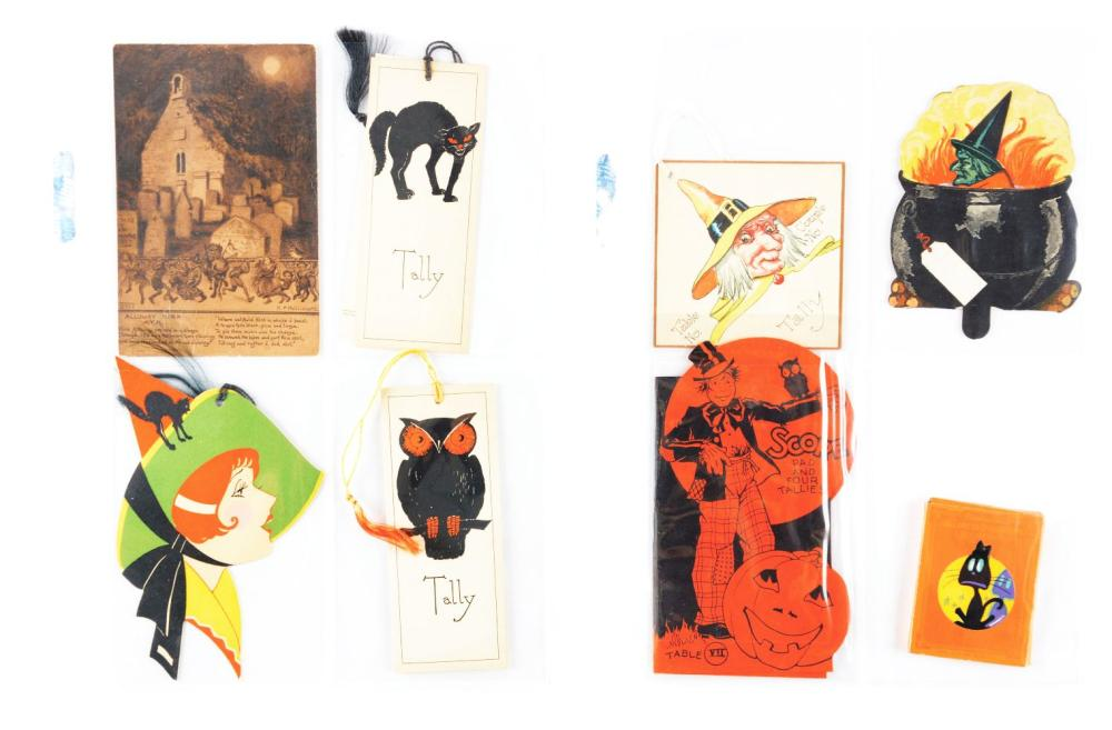 Lot 2088: Lot of 100: Vintage Halloween Post Cards.