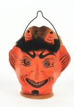 Lot 2092: Rare Two-Faced Halloween Lantern.