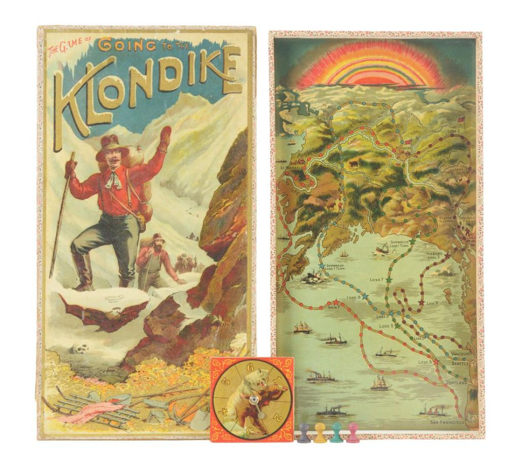 Lot 2096: Rare and Early Game Of Going To The Klondike.