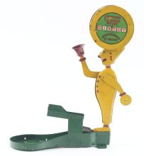 Lot 2098: Scarce Pressed Steel Dixtoy Clever Clown Game.