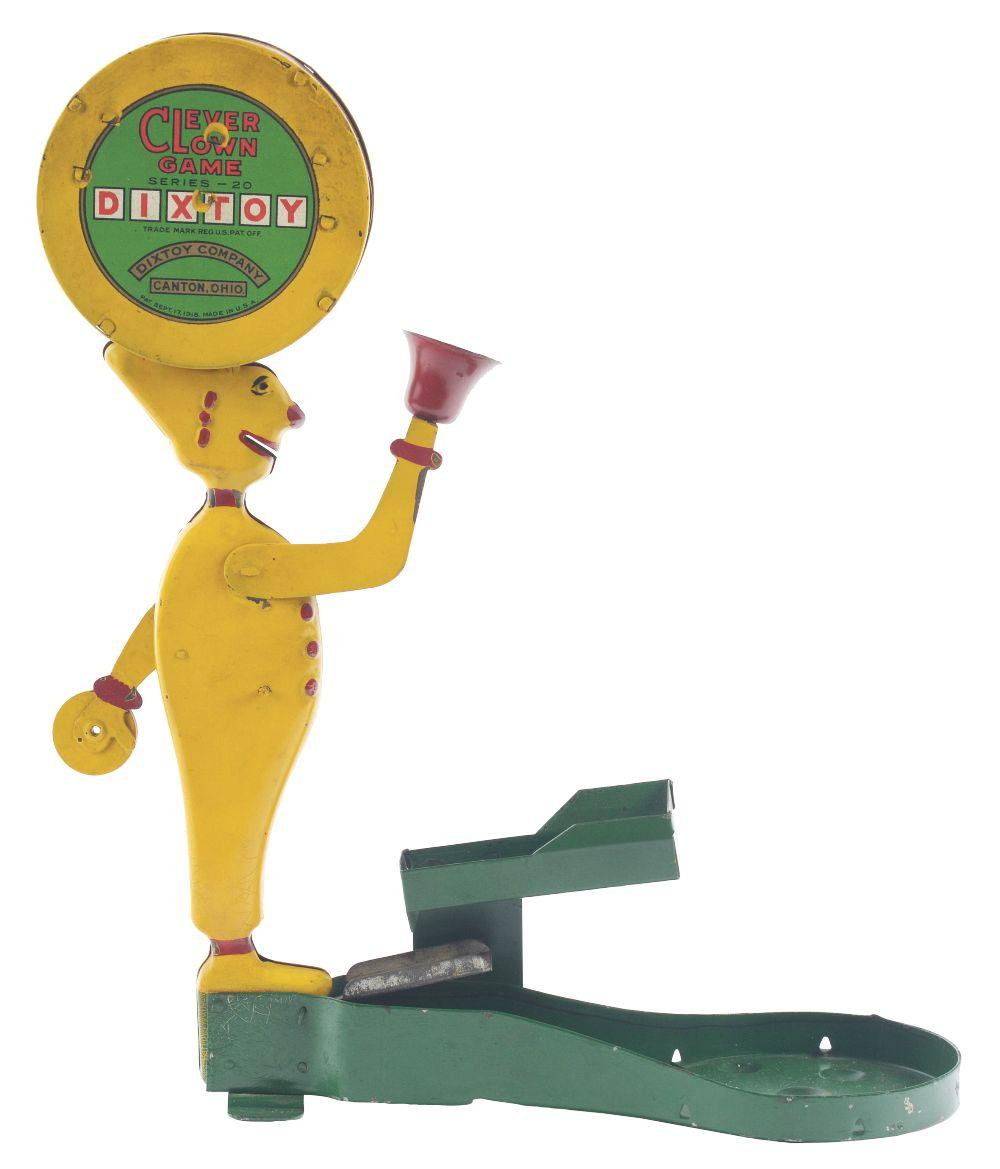 Scarce Pressed Steel Dixtoy Clever Clown Game.