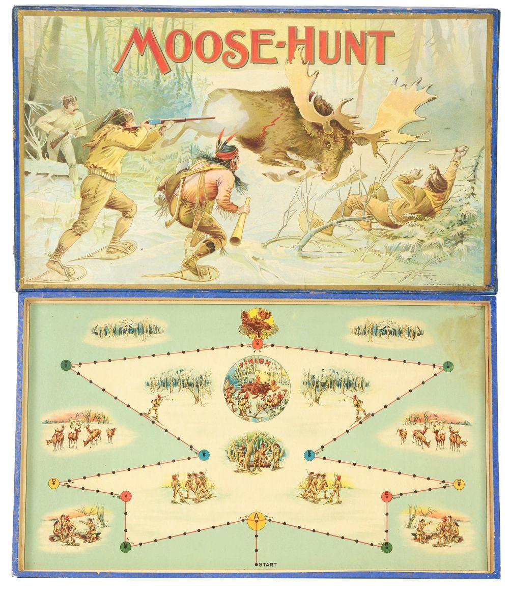 Moose Hunt Board Game in Box.